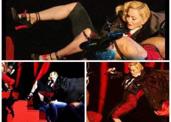 Madonna sufrió aparatosa caída en Brit Awards [VIDEO]