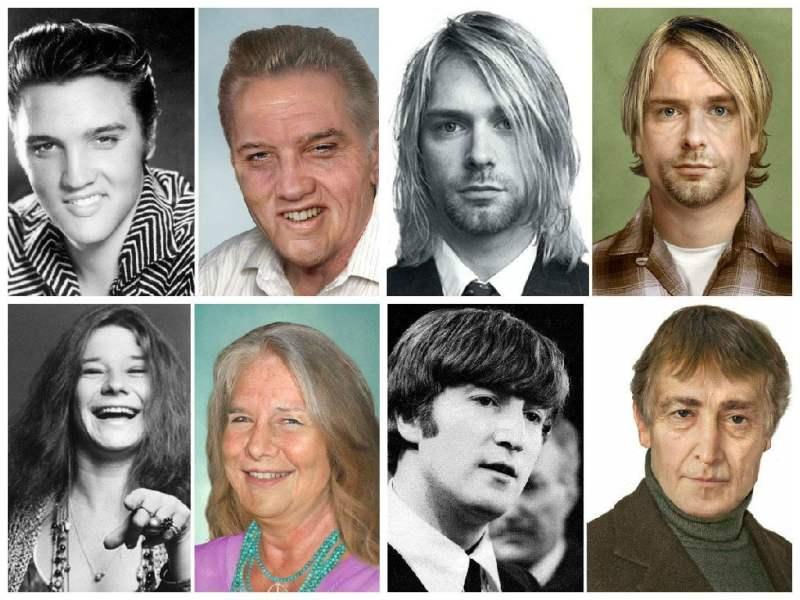 [FOTOS] Así se verían hoy Kurt Cobain, John Lennon y otros músicos