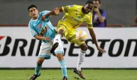 """El campeón peruano, Sporting Cristal, no logró cerrar el partido frente a Táchira y otra vez sufrió un """"doloroso"""" empate sobre el final."""