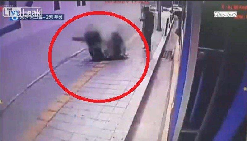 Impactante: La tierra se tragó a dos personas en Corea [VIDEO]