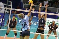El cuadro de U. la San Martín alcanzó el primer lugar de la segunda ronda del campeonato de voleibol peruano.