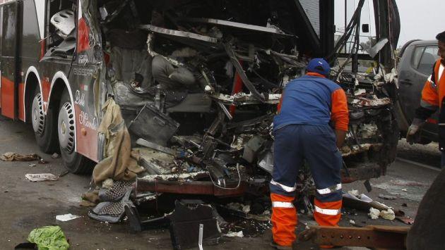 37 muertos deja choque de buses en la Panamericana Norte / Foto Peru 21