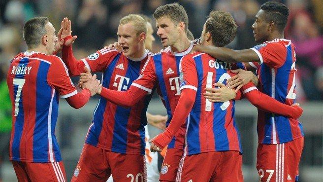 Bayern Munich hizo la fiesta en el Allianz Arena.