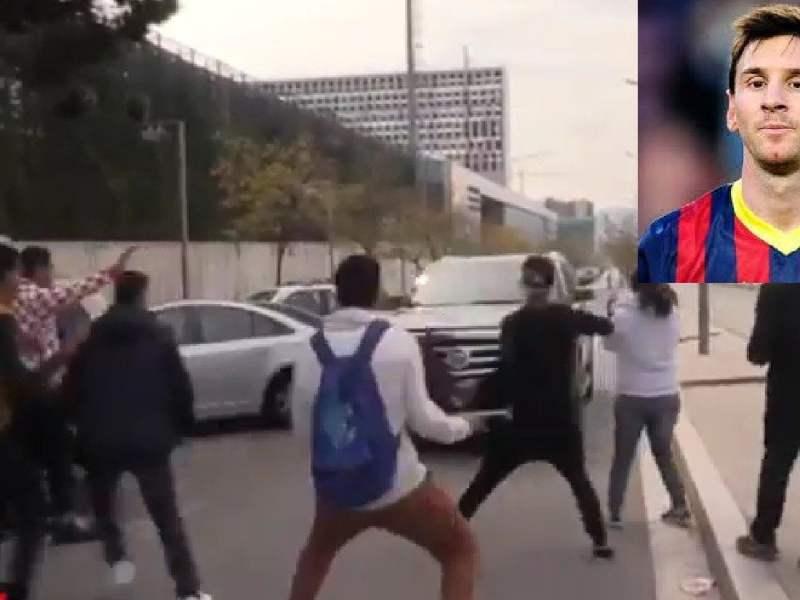 Lionel Messi casi atropella a hinchas con su Cadillac [VIDEO]