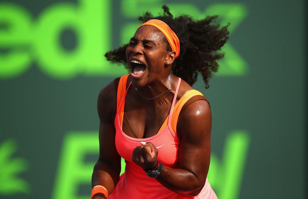 Serena Williams impuso su jerarquía ante su compatriota Bellis.