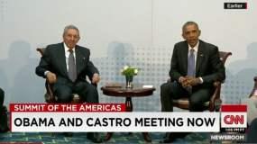 Histórico: Raul Castro y Barack Obama dialogan por una hora
