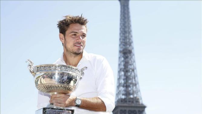 Wawrinka es cuarto en el ranking ATP tras su título del Grand Slam parisino.