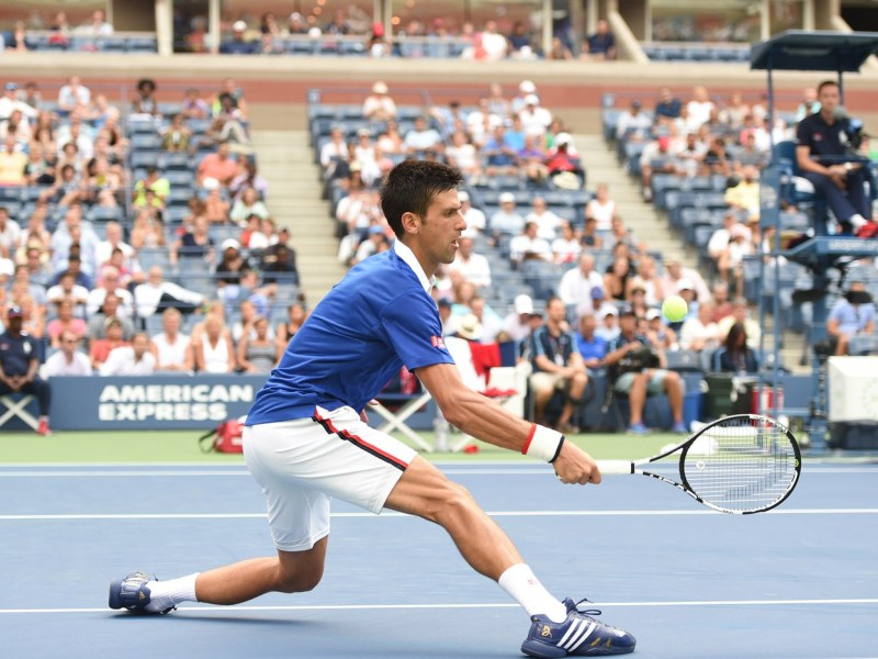 Novak Djokovic gustó y ganó en el debut del US Open .