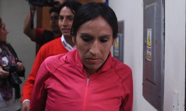 Gladys Tejeda triste (Foto Trome)