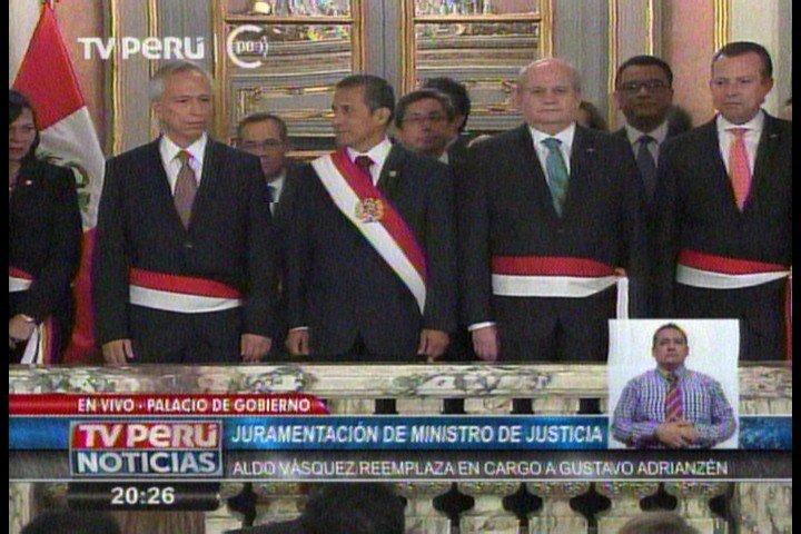 Aldo Vásquez juramentó como nuevo ministro de Justicia