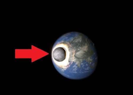 Si la Luna choca con la Tierra esto pasaría (Video)