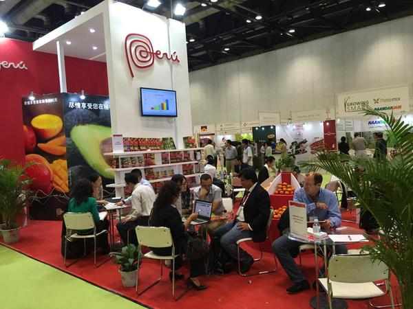 Perú tuvo una sobresaliente participación en feria china de frutas y verduras.