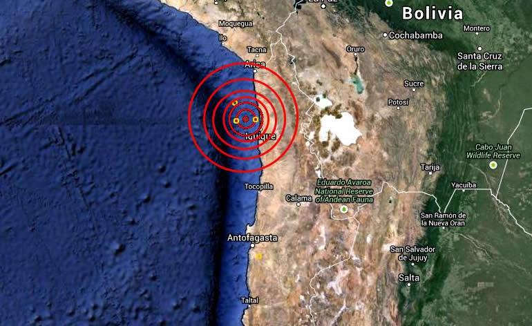 Temblor se registró a las 18:00 horas y afectó a localidad de Calama