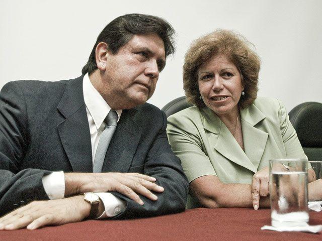 Alan García y Lourdes Flores Nano