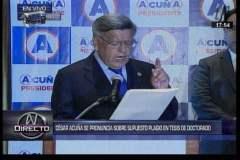 César Acuña aclaró hoy que no plagió su tesis doctoral
