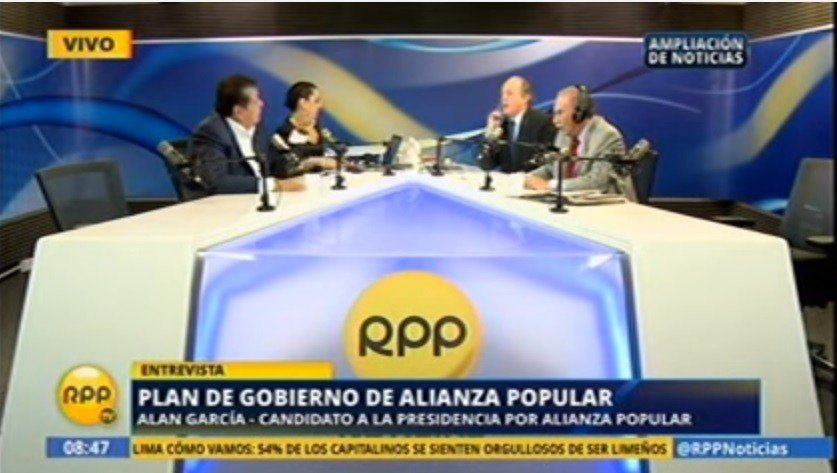Alan García en RPP TV