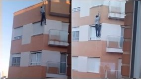 Terrible muerte encontró este hombre al intentar ingresar por la ventana de su casa (YouTube)