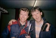 David Bowie y Paul McCartney