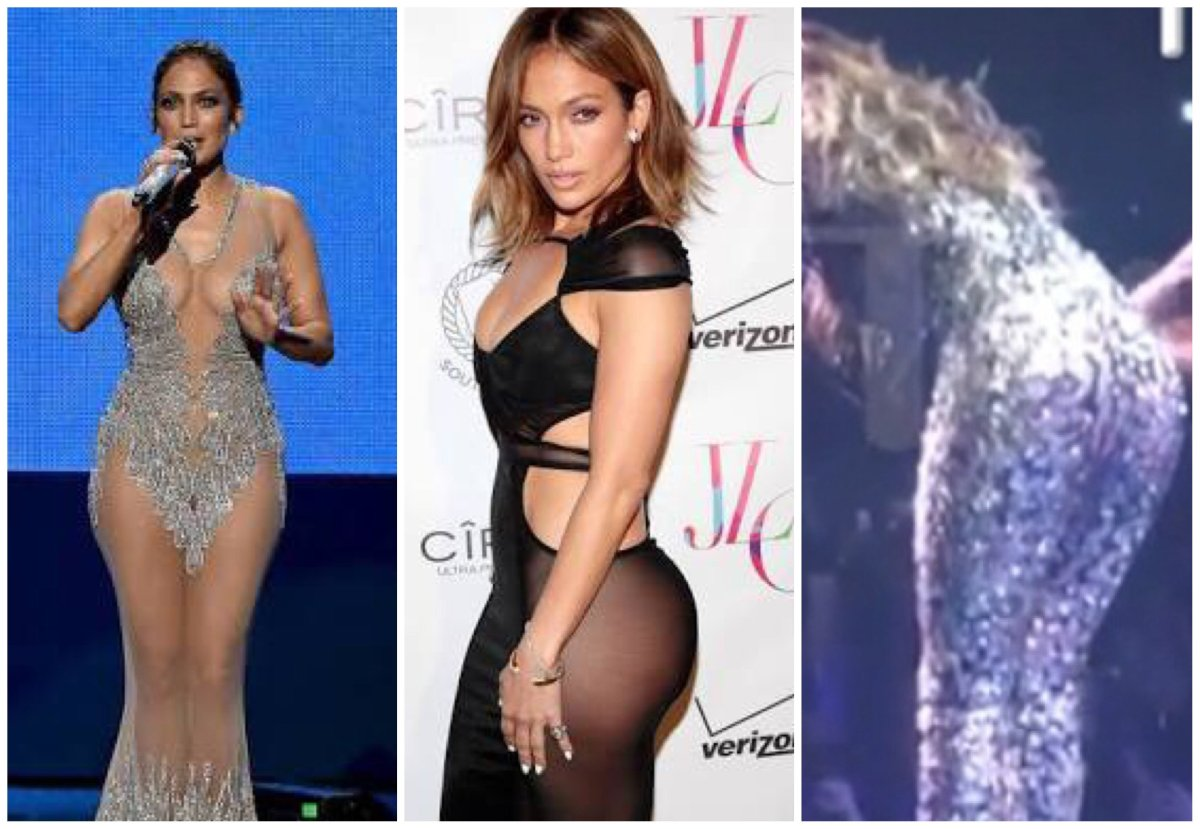 Jennifer López: vestido no aguantó su voluptuoso cuerpo