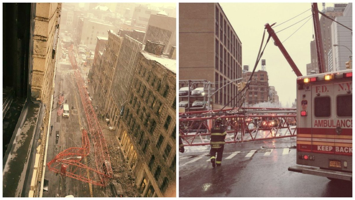 Impactante: así fue el colapso de grúa en Nueva York