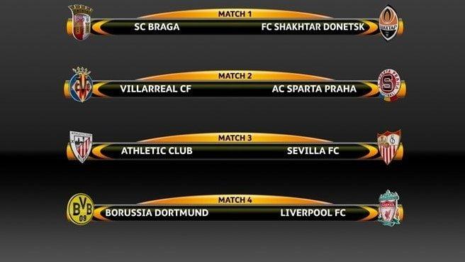 Quedaron listos los cruces de los cuartos de final de la Europa League.
