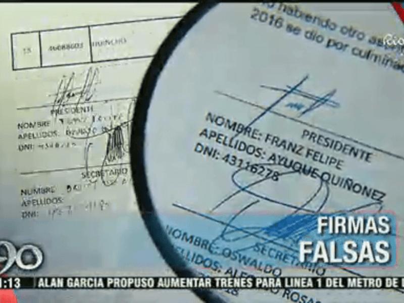 Julio Guzmán: denuncian fraude de firmas
