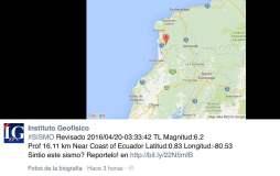 Nuevo sismo en Ecuador