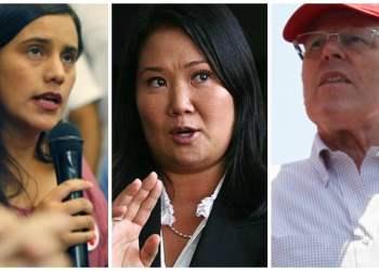 MientrasPPK obtiene el 16,8% de los votos emitidos,Verónika Mendoza se hace con el 15,5% de los mismos.
