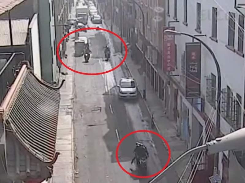 El impactante robo y balacera que hirió a dos cambistas en el cruce del jirón Paruro y la calle Capón