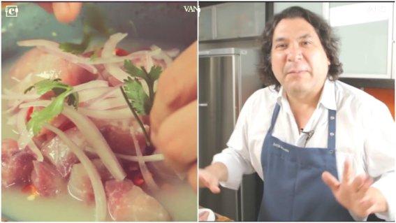 Gastón Acurio y su receta de Cebiche