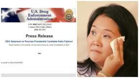 Keiko Fujimori y comunicado de la DEA