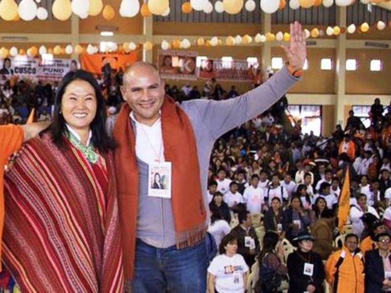 Joaquín Ramirez y Keiko Fujimori