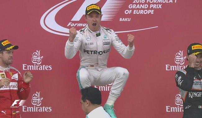Rosberg se impuso de punta a punta en el denominado Gran Premio de Europa.