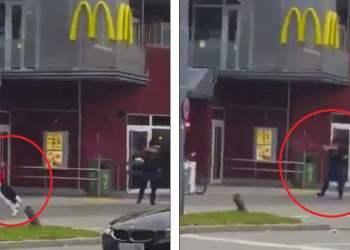 Video muestra disparando a asesino en McDonald's de Alemania