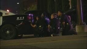 Policías asesinados en Dallas durante protestas (Foto Dallas News)