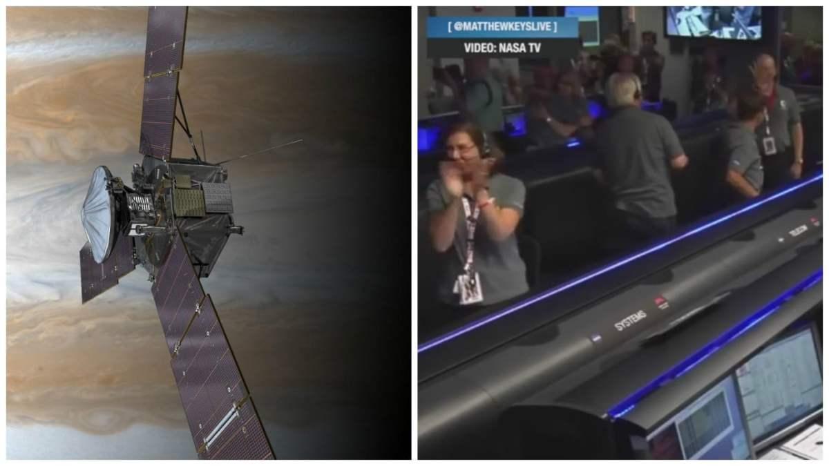 La sonda Juno ya orbita el planetaJúpiter poco después dela medianoche del lunes