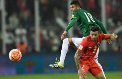 Chile no pudo romper el cerco defensivo boliviano.