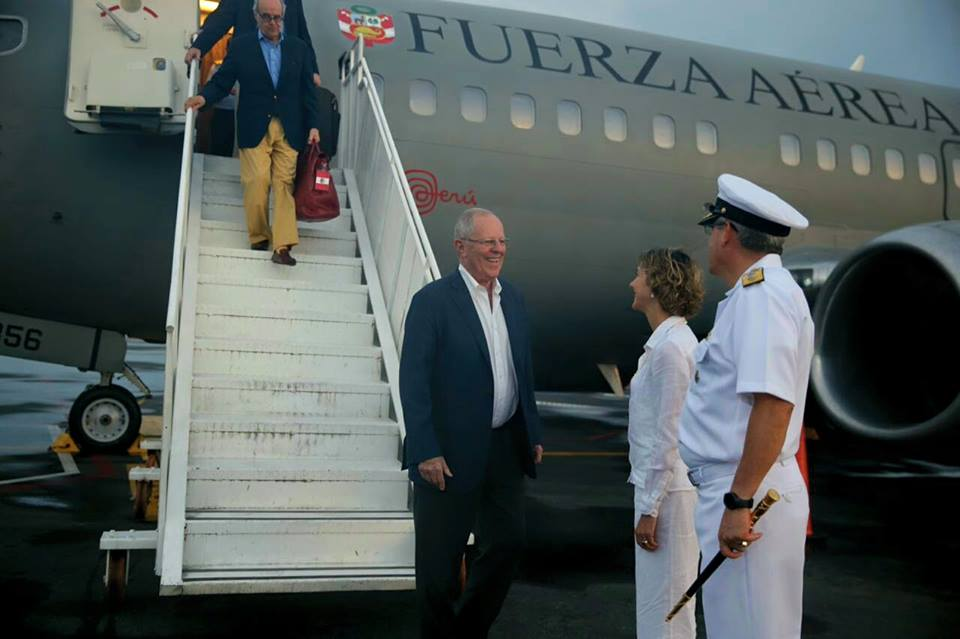 El presidente Kuczynski se encuentra en Colombia para presenciar  el acuerdo de paz entre el gobierno de dicho país y las FARC.
