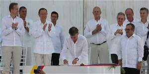 Histórico: Colombia y las FARC firman acuerdo de paz