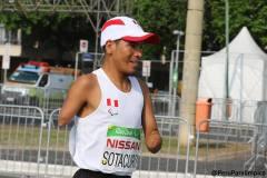 Sotacuro luchó para ganar una medalla pero no lo logró.