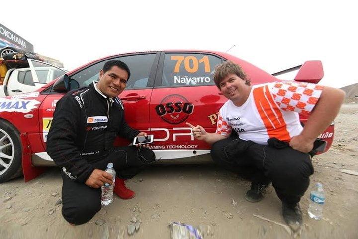 Navarro y Orlandini dominan Caminos del Inca con su auto número 701.