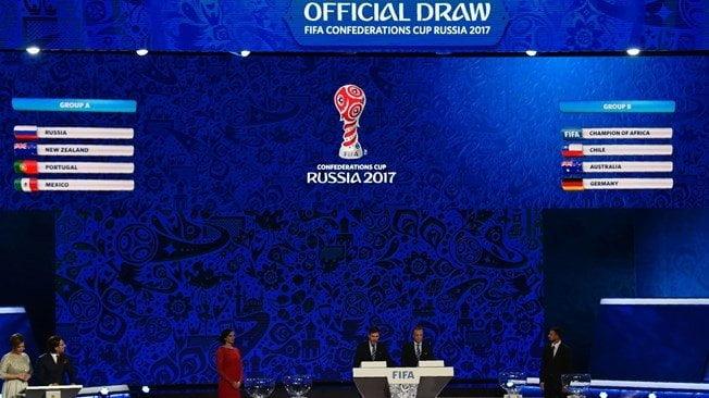 FIFA realizó sorteo de Grupos de la Copa Confederaciones que se jugará el próximo año en Rusia.