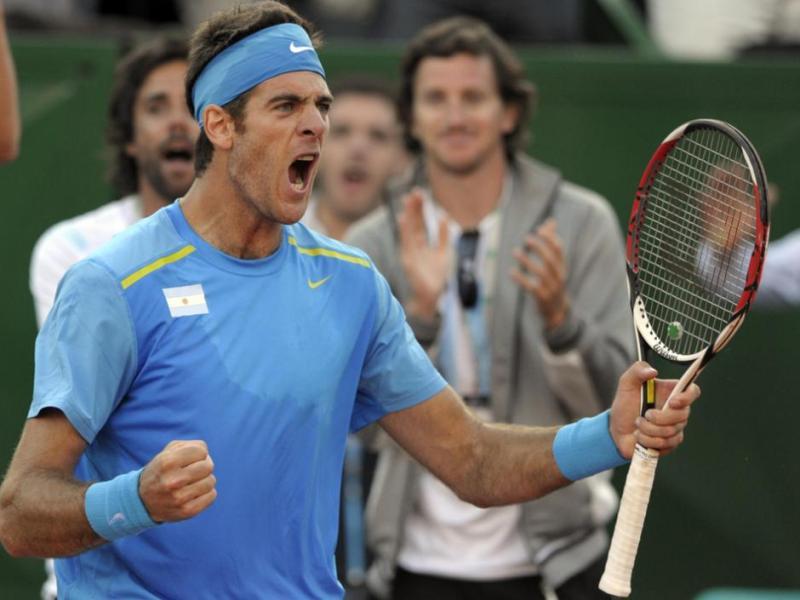 Del Potro le dio un punto vital a Argentina para seguir pensando en el título de Copa Davis.