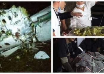 Rescatan heridos de avión con equipo Chapecoense del Brasil