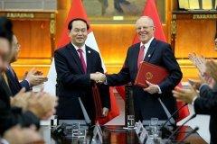 El presidente Kuczynski y su homólogo de Vietnam conversaron entre otras cosas  sobre la apertura del mercado en ese país asiático para los productos peruanos.