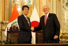 El presidente Kuczynski recibió  en Palacio de Gobierno al primer ministro japonés.