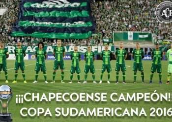 La CONMEBOL otorgó el título de Campeón de la Copa Sudamericana al Club Chapecoense de Brasil.