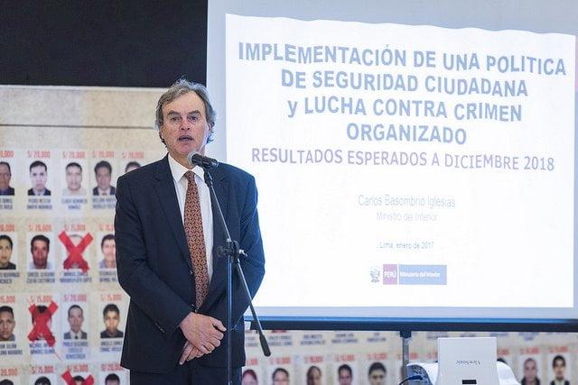 """Ministro Basombrío: """"La seguridad nunca ha sido tratada como política pública en el Perú"""""""