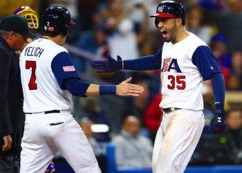 Estados Unidos logó remontar el score ante Venezuela con dos jonrones.
