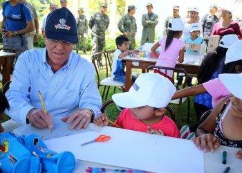 El presidente Kuczynski visitó el Colegio militar Pedro Ruiz Gallo de Piura.